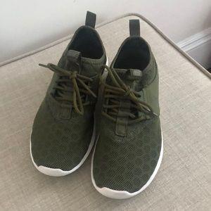 Olive green Nike airs